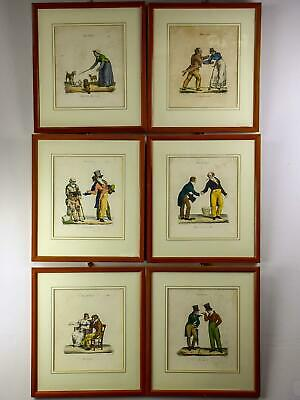 Lot of 7 satirical French lithographs - Pigal 'Scenes of Society'