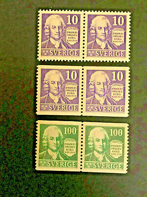 Sweden #264-7 VF NH PAIRS      Cat. $28.00