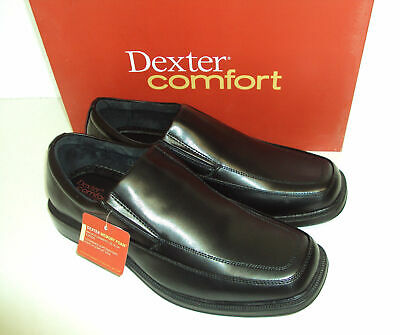 Dexter Wide Fit Comfort Mens Memory Foam Shoes Leather Lined Gusset Work Size Uk