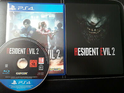 Resident Evil 2 Remake + Steelbook PS4 Playstation 4 Top!!!