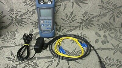 EXFO PPM-350C-VZ1 PON Power Meter w/ Fiber Cables ~ Tested