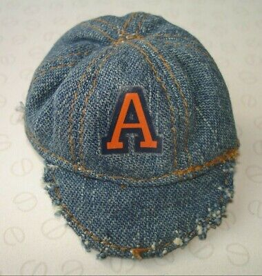 Bratz BOYZ 2nd Edition Cameron Doll's Denim Hat Cap with Letter 'A' Motif
