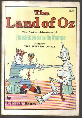 BAUM. LAND OF OZ. ILLUSTRATED SOFT COVER. RAND McNALLY. WHITE SPINE. Soft cover