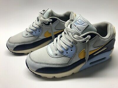NIKE AIR MAX 90 Essential Men's size 9 Running Shoe AJ1285 008 Platinum Yellow