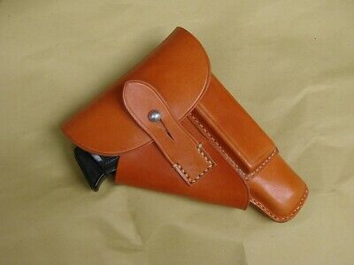 """WWII German  Wehrmacht Walther PPK Brown Holster """"Akah"""" Repro"""