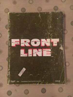 Front Line Video Arcade Game Manual, Taito 1982
