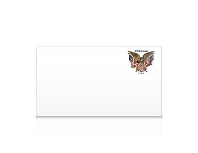 USPS New Folk Art Eagle #6 3/4 Regular Forever Stamped (PSA) Envelope Pack of 5