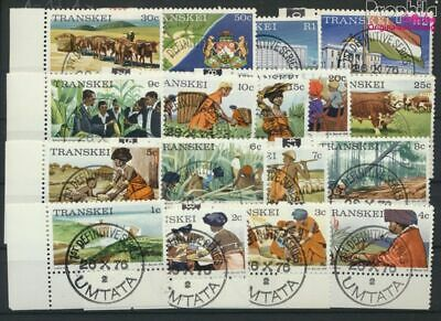 Fine Used / Cance complete Issue 9253083 Transkei 1a X-17a X South Africa