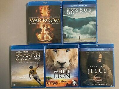 Blu-ray lot New Free Ship War Room Exodus Season Miracles K Jesus White Lion