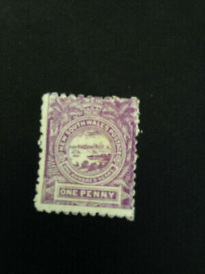 Australian States -  1888 NSW Mauve One Penny Stamp Not used