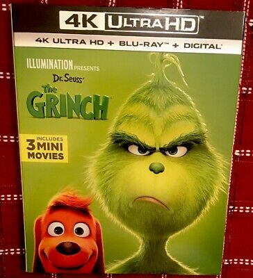 Dr. Seuss' The Grinch 2018 (4K Ultra HD Slipcover Only) No Digital Code Or Discs
