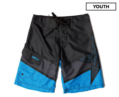 Unit Boys' Shaft Boardshort - Black/Blue