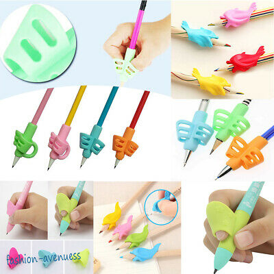 Lots Kid Silicone Pen Pencil Grip Holder Writing Posture Correction Device