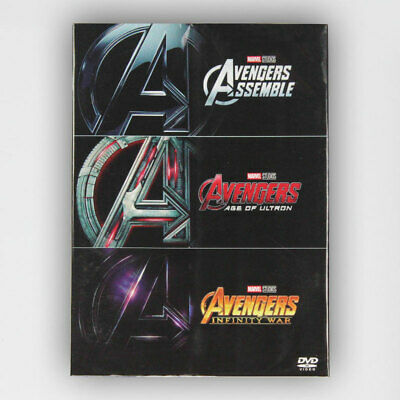 Marvel's The Avengers / Age of Ultron / Infinity War 1-3 DVD Box set Brand New