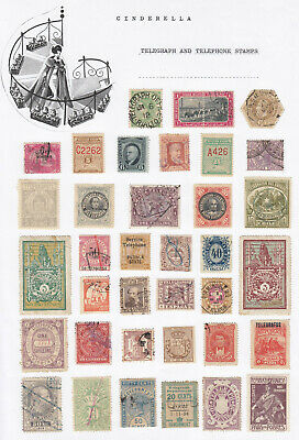 Worldwide - TELEGRAPH AND TELEPHONE STAMPS / LABELS (30+ cinderella collection)