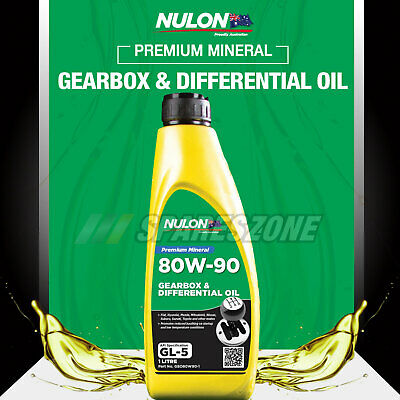 Nulon 80W-90 Gearbox and Differential Oil 1L For TOYOTA RAV4 4X4