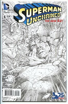 Superman Unchained #6 1:300 Sketch Variant Jim Lee Dc Comics 2015 Nm-