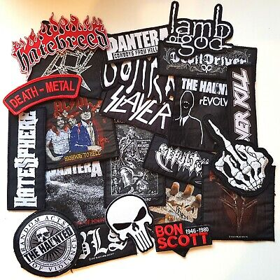 23 x Heavy Metal Patches Lamb of God Slayer Pantera Gojira The Haunted ACDC BLS