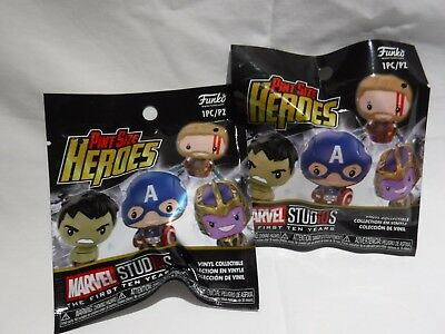 Marvel Collector Corps Funko Pint Sized Heroes x 2 Thanos Thor Gold New Sealed