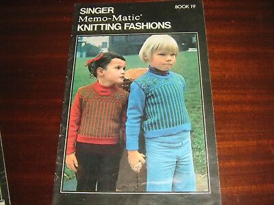 Memo-Matic Patterns Library For Punch-Card Knitter Plus 2 Singer Pattern Books..