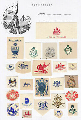 AUSTRALIA AND UK - CUT-OUTS 'CRESTS' (20+ cinderella collection)