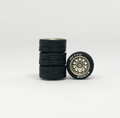 Eadc Custom Wheels 1:64 Scale Ce28 Set Of Four Bronze  Hot Wheels Matchbox