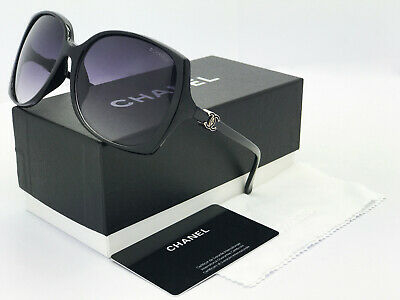 Sunglasses Polarized@¹CHANEL##¹Black Gray Gold Logo Iridium