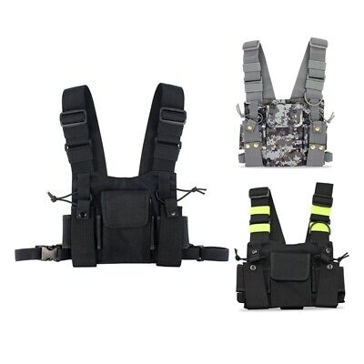 1X(Radios Pocket Radio Chest Harness Chest Front Pack Pouch Holster Vest Ri P7K1
