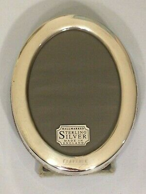 Vintage Concorde British Airways Sterling Silver Easel Oval Photo Frame w Logo