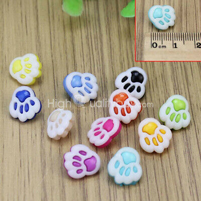 100Pcs Footprint Design Children Clothing Accessories Sewing Buttons Plastic