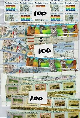 $1 ( 3 Stamps ) X 100 Australia  Postage Stamps  Mint Full Gum Face Value $100 ~