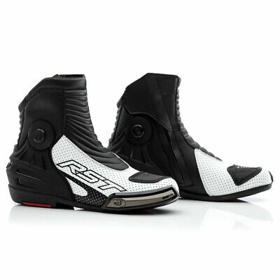 Make Offer: RST Tractech Evo 3 Short CE Leather Motorcycle Boots White - 44
