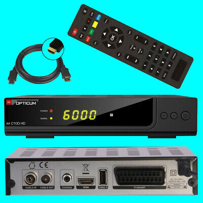 HD Kabel Receiver ✔ Opticum HD C100 ✔ Digital ✔ USB ✔ HDMI ✔ DVB-C ✔ HDTV ✔