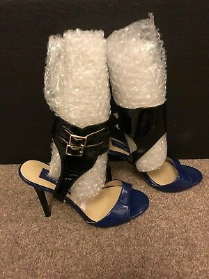 HM Jimmy Choo heels blue sandles shoes used, pre-owned Women Ladies Size 3 36