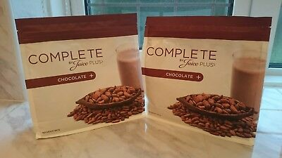 juice plus shakes chocolate 2 large pouches date end  05/2019.
