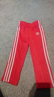 Girls Pink Adidas Jogging Bottoms Age 18-24 Months Zip Up Bottoms Casual