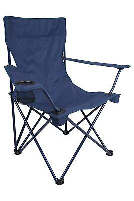 Mountain Warehouse Folding Portable Chair with Arms Cup Holder in Navy