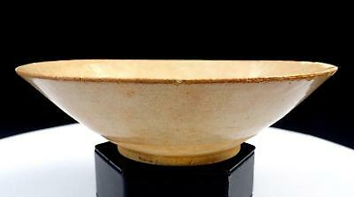 """Chinese Song Dynasty Tan Pottery Hand Thrown Conical 6 3/4"""" Bowl 960-1279"""
