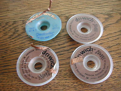 DRY-WICK 0.130 484-5 and  size #4  SPOOLS as-is  4 pcs nr