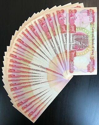 750,000 IQD - (30) 25,000 IRAQI DINAR Currency Notes - AUTHENTIC - FAST DELIVERY