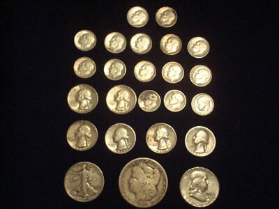 $5 Face Value Lot Of 90% Silver U.s. Coins Mixed Variety L12