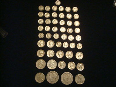$10 Face Value Lot Of 90% Silver U.s. Coins Mixed Variety L3
