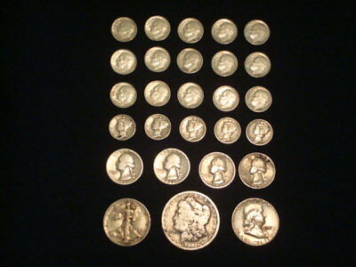 $5 Face Value Lot Of 90% Silver U.s. Coins Mixed Variety L4