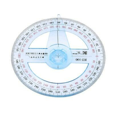 360 Degree Circular Protractor Pointer Angle Measure Ruler SL