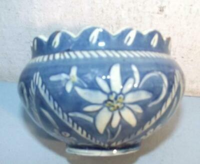 Antique Swiss Pottery Bowl Thun Thune Thoune dated March 1915