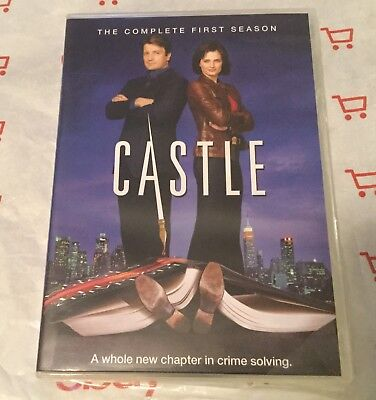 Castle: The Complete First Season (DVD, 2009, 3-Disc Set) Nathan Fillion
