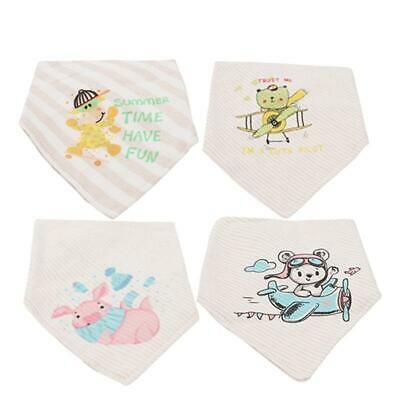 Baby Cute Cartoon Saliva Towel Bandana Bibs Dribble Triangle Kids Head Scarf 6L