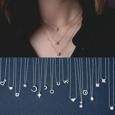 Fashion Women Crystal Clavicle Choker Pendant Necklace Wedding Charm Jewelry Hot