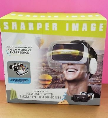 Sharper Image VR Virtual Reality Wired Headsets W/ Built in Headphones Free Ship