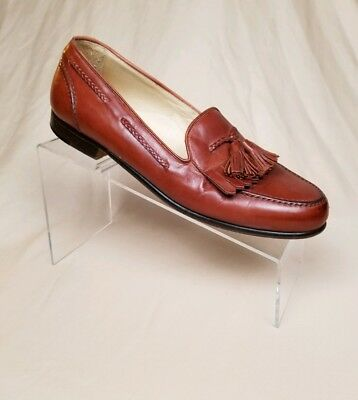 353879f60ee Cole Haan Bragano US Mens 8 M Leather Boat Shoes Kilt Tassel Loafers Shoes  Italy